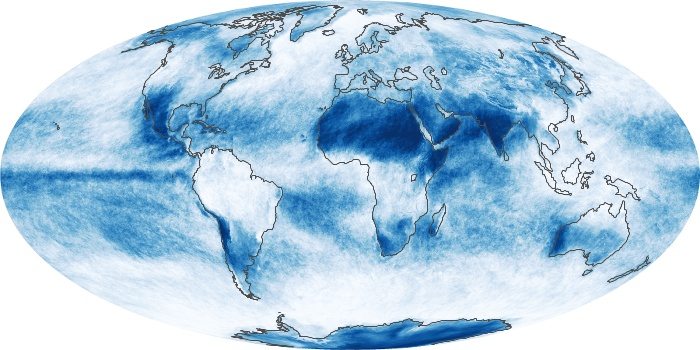 Global Map Cloud Fraction Image 134