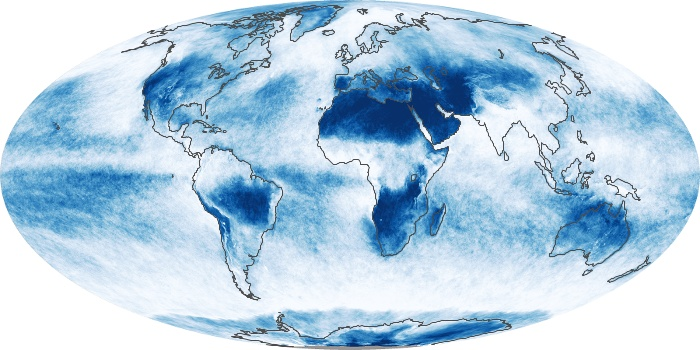 Global Map Cloud Fraction Image 137