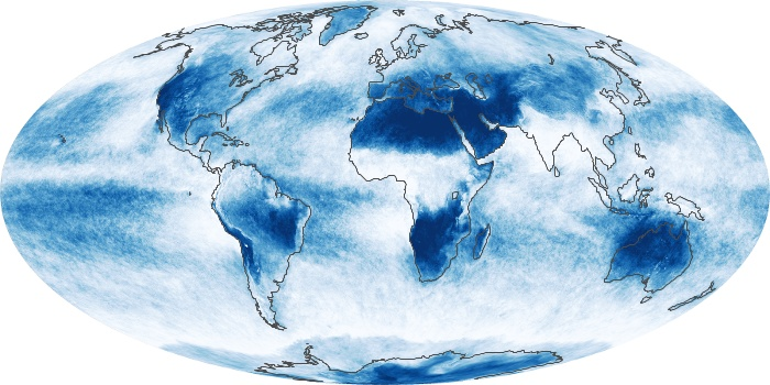 Global Map Cloud Fraction Image 110