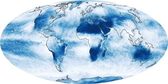 Global Map Cloud Fraction Image 140