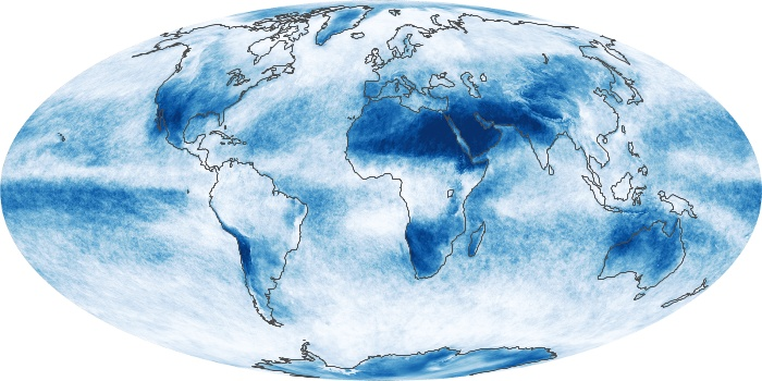 Global Map Cloud Fraction Image 141
