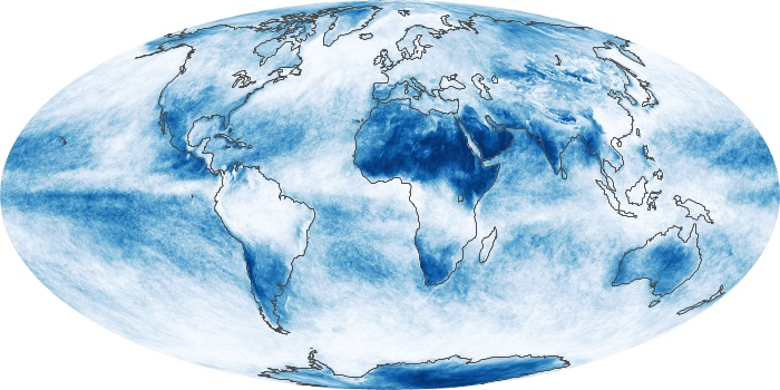 Global Map Cloud Fraction Image 115