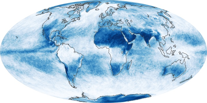 Global Map Cloud Fraction Image 146