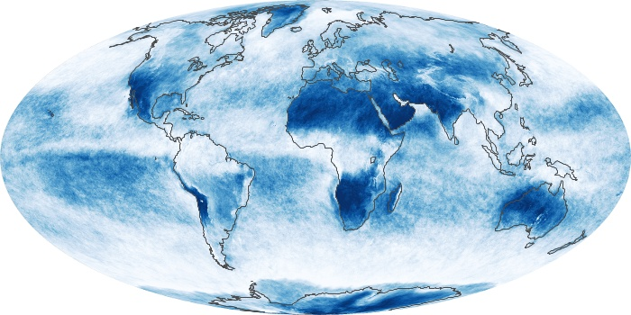 Global Map Cloud Fraction Image 119