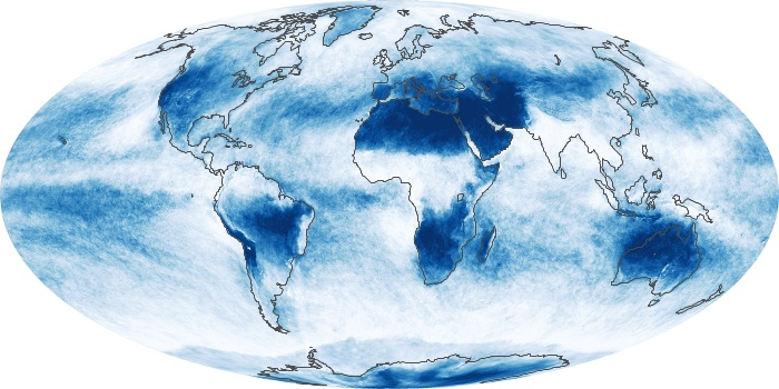 Global Map Cloud Fraction Image 122