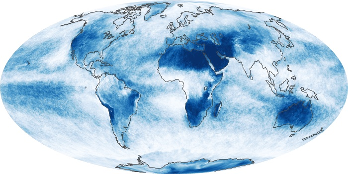 Global Map Cloud Fraction Image 151