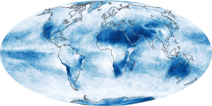 Global Map Cloud Fraction Image 153