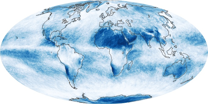 Global Map Cloud Fraction Image 155