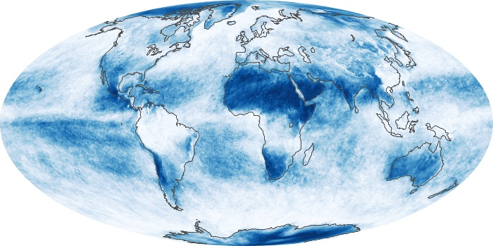 Global Map Cloud Fraction Image 128
