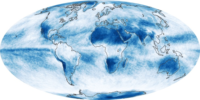 Global Map Cloud Fraction Image 158