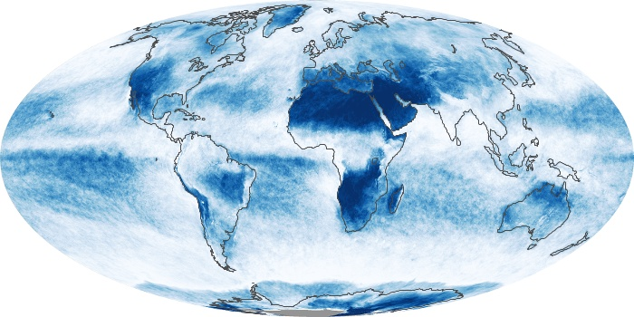 Global Map Cloud Fraction Image 160