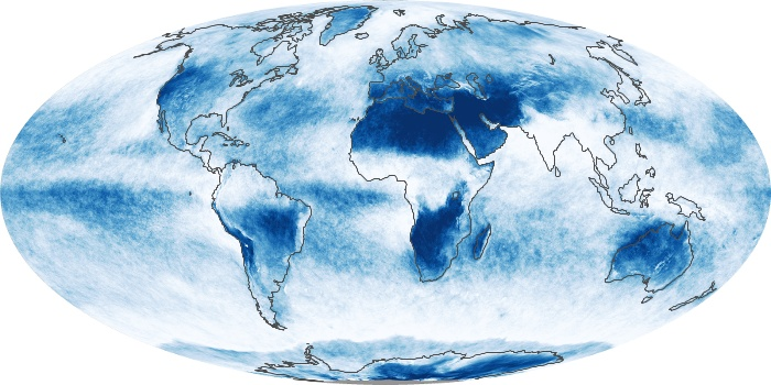 Global Map Cloud Fraction Image 133