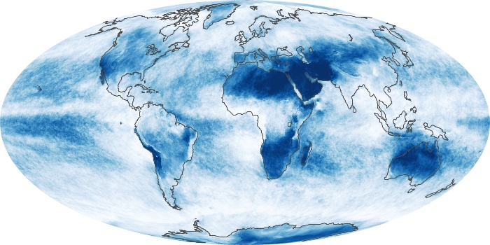 Global Map Cloud Fraction Image 135