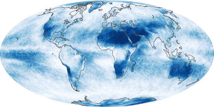 Global Map Cloud Fraction Image 136