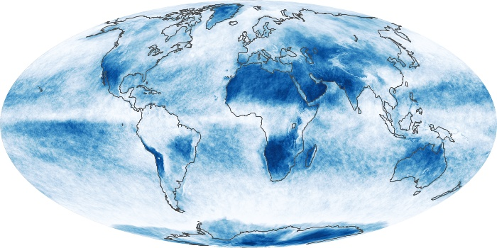 Global Map Cloud Fraction Image 143