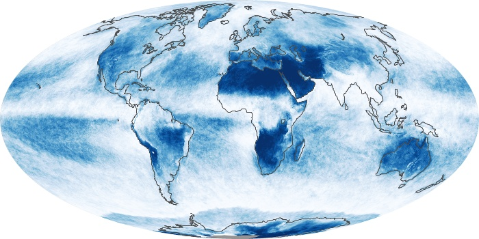 Global Map Cloud Fraction Image 145