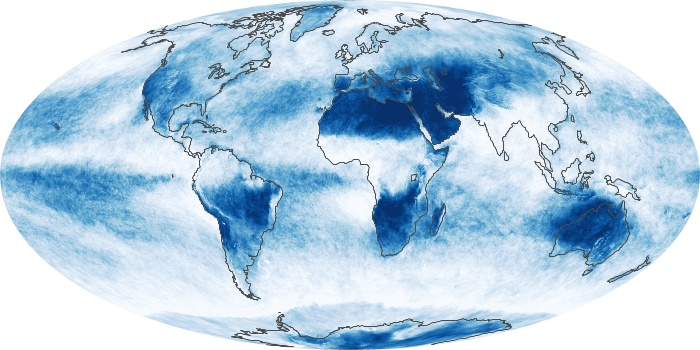 Global Map Cloud Fraction Image 174