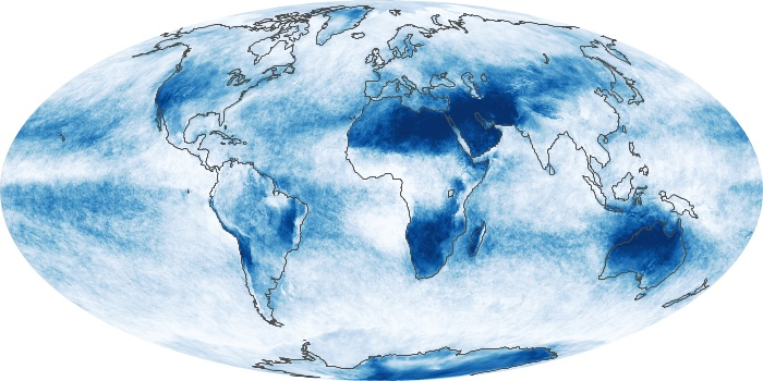 Global Map Cloud Fraction Image 175