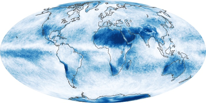Global Map Cloud Fraction Image 178