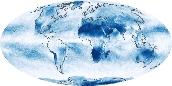 Global Map Cloud Fraction Image 184