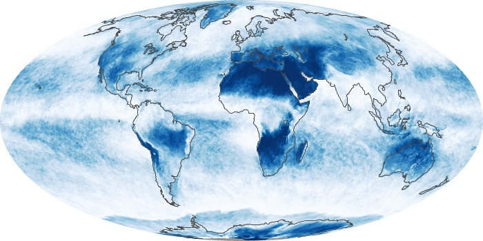Global Map Cloud Fraction Image 157