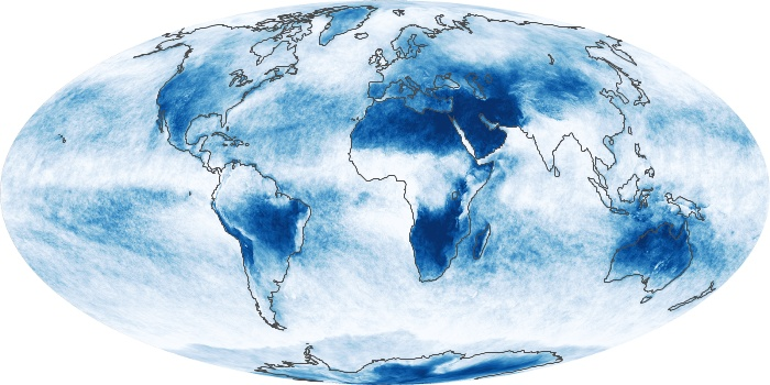 Global Map Cloud Fraction Image 186
