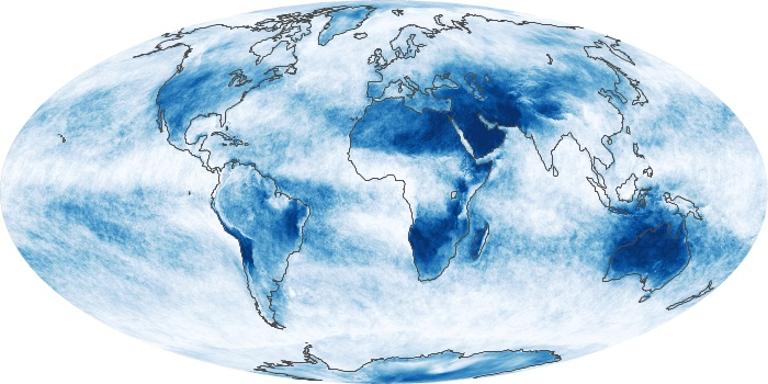 Global Map Cloud Fraction Image 159