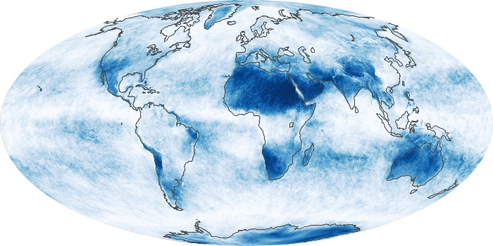 Global Map Cloud Fraction Image 161