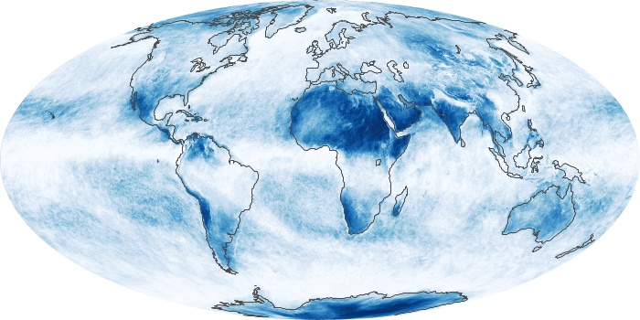 Global Map Cloud Fraction Image 191