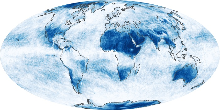 Global Map Cloud Fraction Image 192