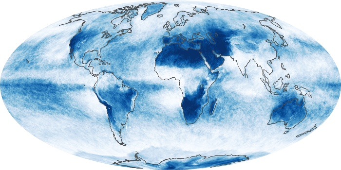 Global Map Cloud Fraction Image 170