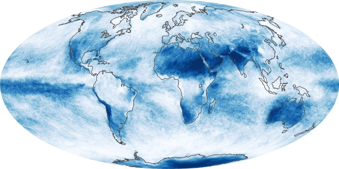 Global Map Cloud Fraction Image 201