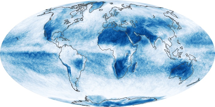 Global Map Cloud Fraction Image 207