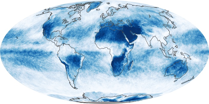 Global Map Cloud Fraction Image 180