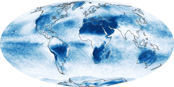 Global Map Cloud Fraction Image 181