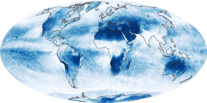 Global Map Cloud Fraction Image 210