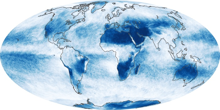 Global Map Cloud Fraction Image 183