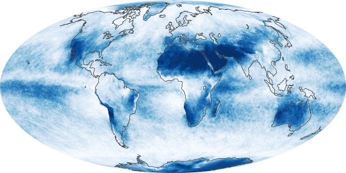 Global Map Cloud Fraction Image 213