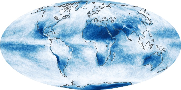 Global Map Cloud Fraction Image 214