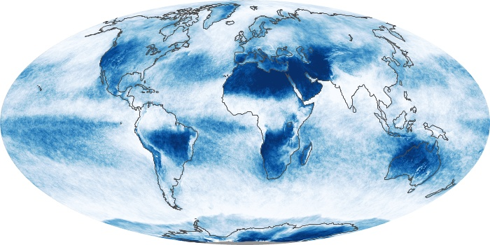 Global Map Cloud Fraction Image 222