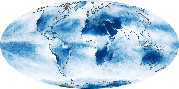 Global Map Cloud Fraction Image 194