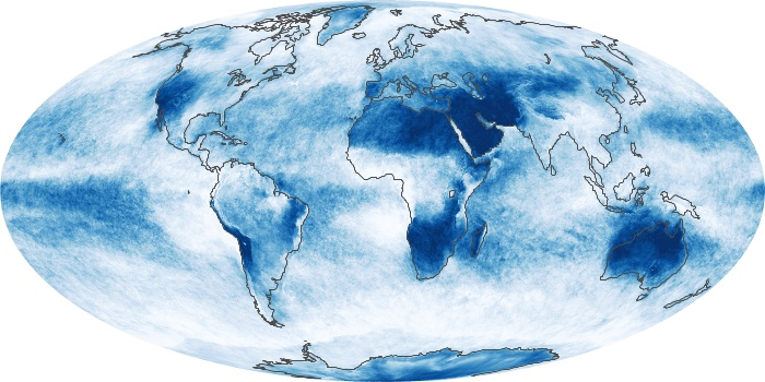 Global Map Cloud Fraction Image 195