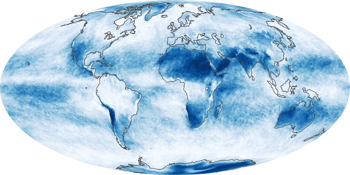 Global Map Cloud Fraction Image 226
