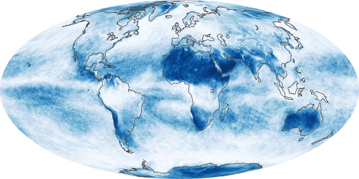 Global Map Cloud Fraction Image 227