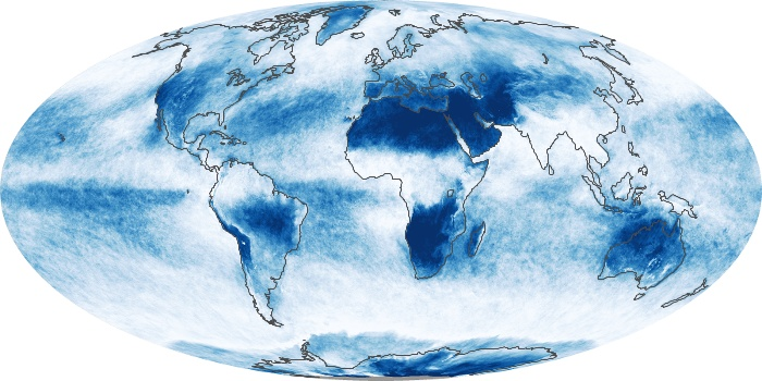 Global Map Cloud Fraction Image 205