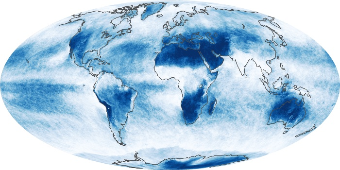 Global Map Cloud Fraction Image 235