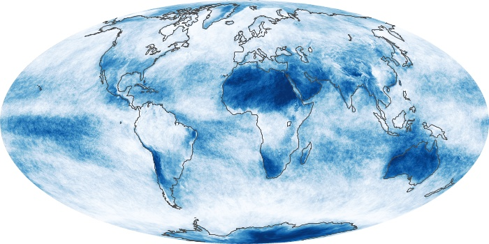 Global Map Cloud Fraction Image 238