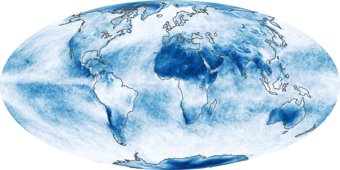 Global Map Cloud Fraction Image 241