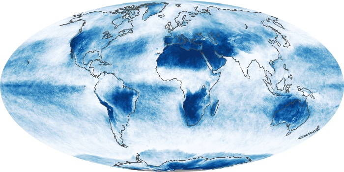 Global Map Cloud Fraction Image 217