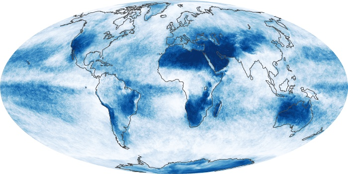 Global Map Cloud Fraction Image 219